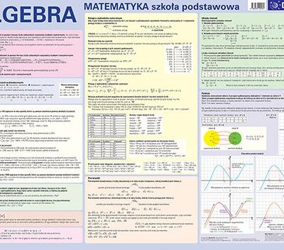 Matematyka. Algebra. Szkoła podstawowa- plansza edukacyjna na ścianę i biurko + książeczka edukacyjna