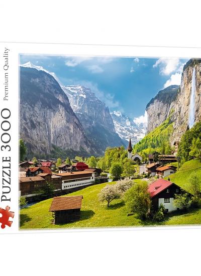 Puzzle 3000 Lauterbrunnen Szwajcaria 33076
